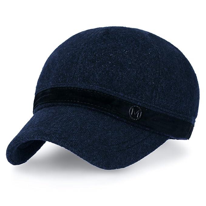 ililily Women Short Brim Baseball Cap Suede Band Velcro Adjustable Trucker  Hat b2377c2687a