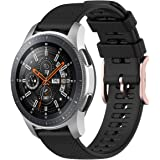 TERSELY Sport Band Strap for Samsung Galaxy Watch 3 45mm/Galaxy Watch 46mm/Gear S3, 22mm Soft Silicone Replacement…