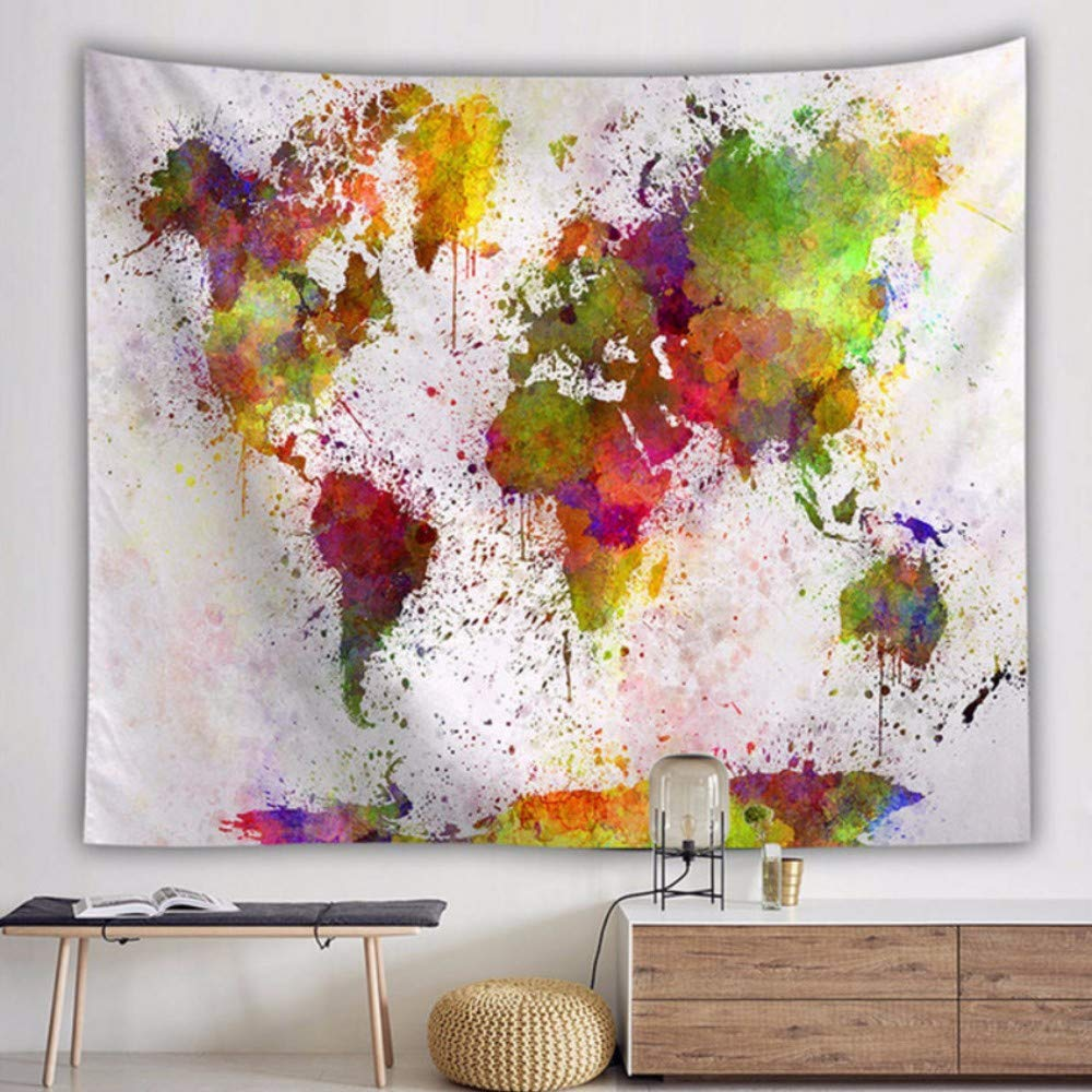 Cyalla Art color/é tenture Tapisserie d/écorative Home Textile Vintage World Map Home Decor Tapisserie-150 130cm