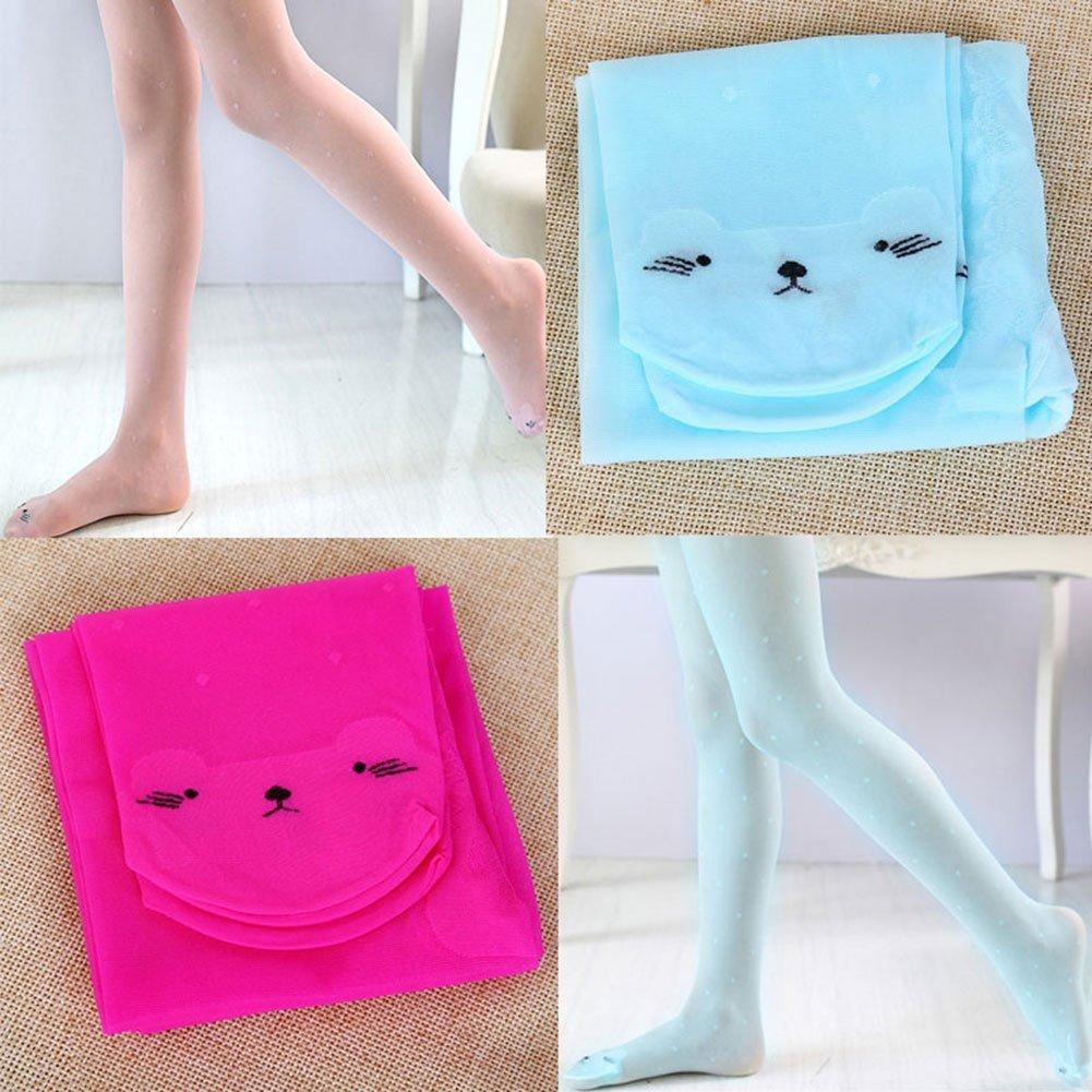 M/&A 4-Pack Girl Tights Kids Summer Leggings Pantyhose