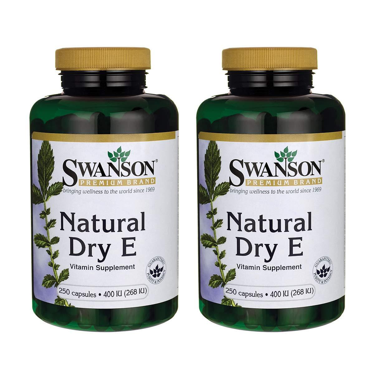 Swanson Natural Dry Vitamin E 400 Iu (180.2 Milligrams) 250 Capsules (2 Pack)