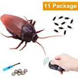 RC Infrared Remote Control Cockroach, Novelty Fake Plastic Roaches Look Real Prank Toys Insects Joke Scary Trick Bugs Party Halloween Xmas Gift for Kids/Friends Cat Toy