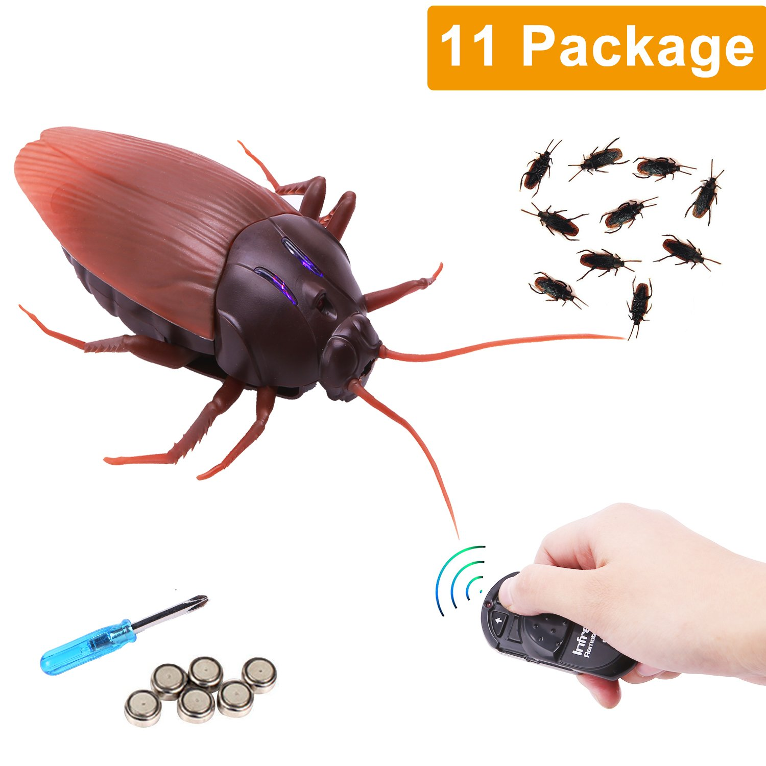 Amazon.com: RC Infrared Remote Control Cockroach, Novelty Fake ...
