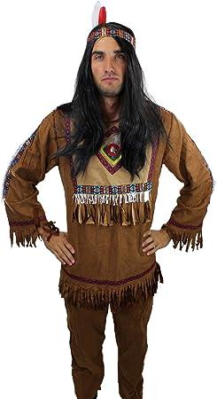 DRESS ME UP - L030/52 Disfraz de India casique hombres pluma talla ...