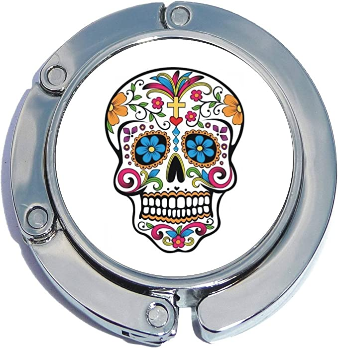 Sugar Skull Owl Purse Hook for Table Set of 3 pcs Purse Hangers for Tables Purse Hook Hangers