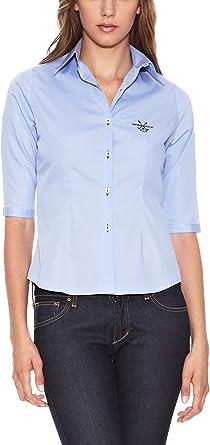 Spagnolo Camisa Mujer Azul Claro XS: Amazon.es: Ropa y accesorios