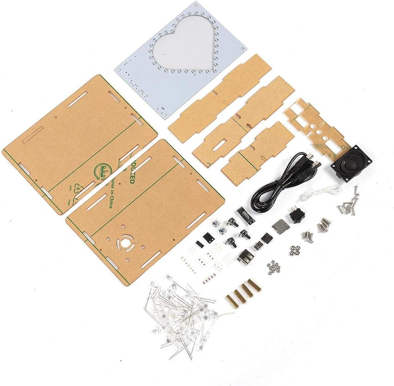 Socobeta Diseño de Marco de Fotos Lámpara en Forma de corazón Anti-corrosión Colorido LED Flash Elegante Caja de música Antidesgaste Durable para el Regalo del Kit de producción