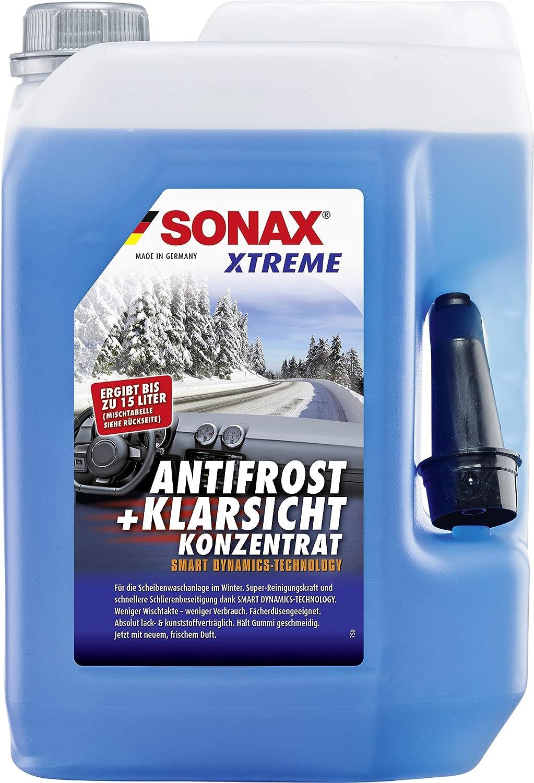SONAX XTREME AntiFrost+KlarSicht Gebrauchsfertig bis -20° C (3 Liter) schneller, schlierenfreier und supereffektiver Scheibenreiniger für den Winter | Art-Nr. 02324000