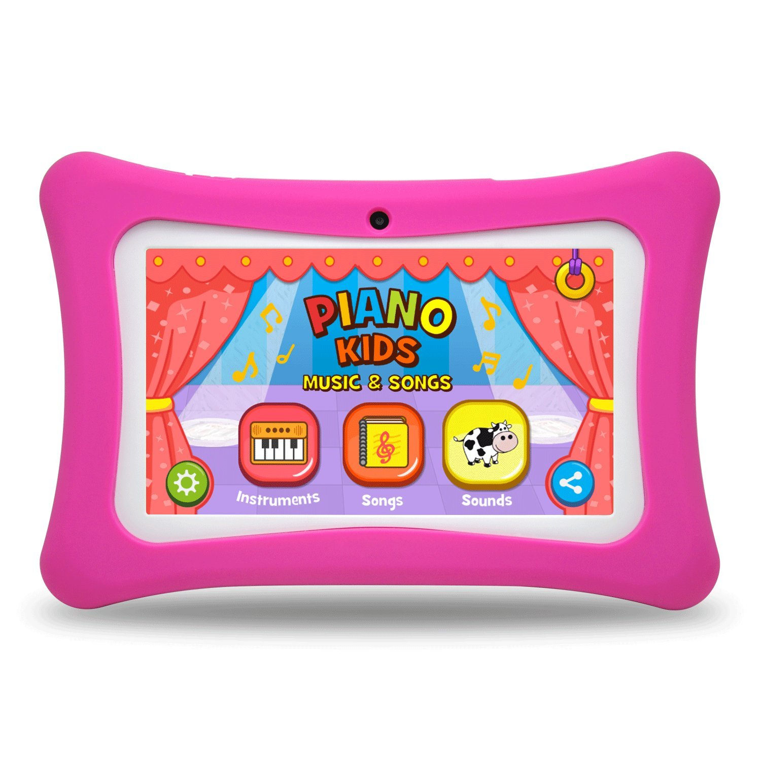 Kids Tablet PC, 7'' HD Eyes-Protection Screen Android 7.1 1GB RAM 8GB ROM Tablet with WiFi Kids Games & Learning Software Pre-Installed for Children's Day Best Gift Set (pink1)