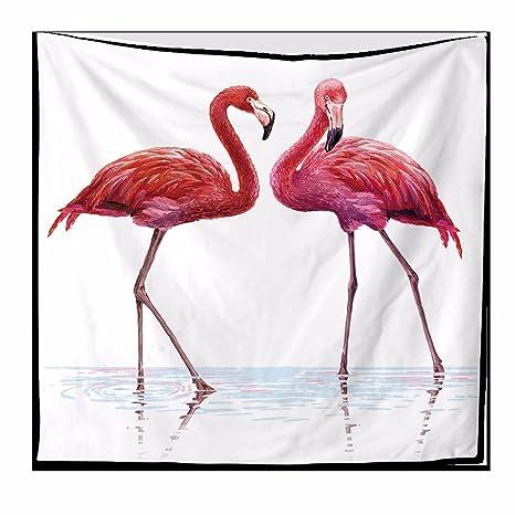 XXSZKAA-Tapestry Mobiliario De Hogar Sofá Paredes Fondo Tapiz De Poliéster Animal Print Flamingo Tapiz