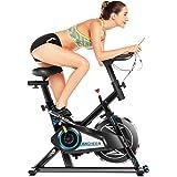 Ancheer Bicicleta Estática de Spinning Bicicleta Fitness Volante Inercia, Pantalla LCD, Millar y Sillín Ajustable…