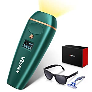 Veyfun Laser Hair Removal for Women and Men Permanent Painless Facial IPL Hair Remover Device for Face, underarm, Bikini Area, the Whole Body, 5 Levels, 2 Modes,999999 Flashes