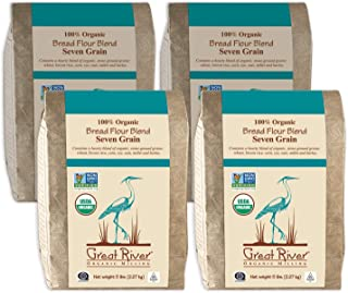 product image for Great River Organic Milling, Bread Flour Blend, Seven Grain Blend, Stone Ground, Organic, 5-Pounds (Pack of 4)