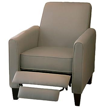 Amazoncom Lucas Gray Fabric Modern Sleek Recliner Club Chair