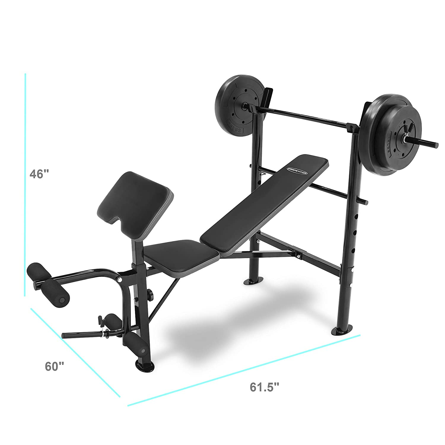 Competitor Weight Bench With 80 Lb Weight Set