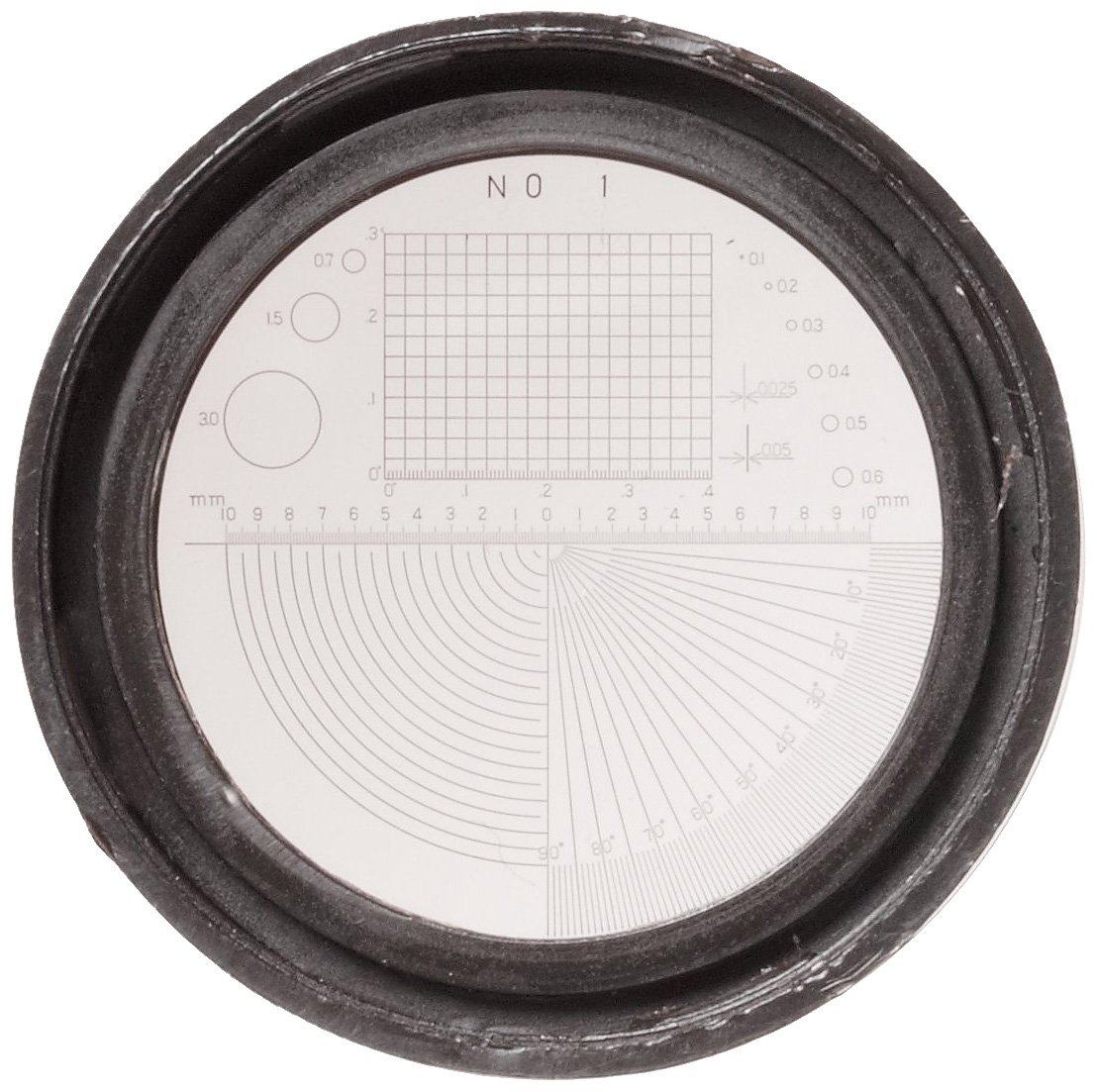 8x Magnification Mitutoyo 183-902 Pocket Comparator with Six Reticles
