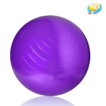 Pelota de gimnasia (75 cm de diámetro, incluye bomba), inflable ...