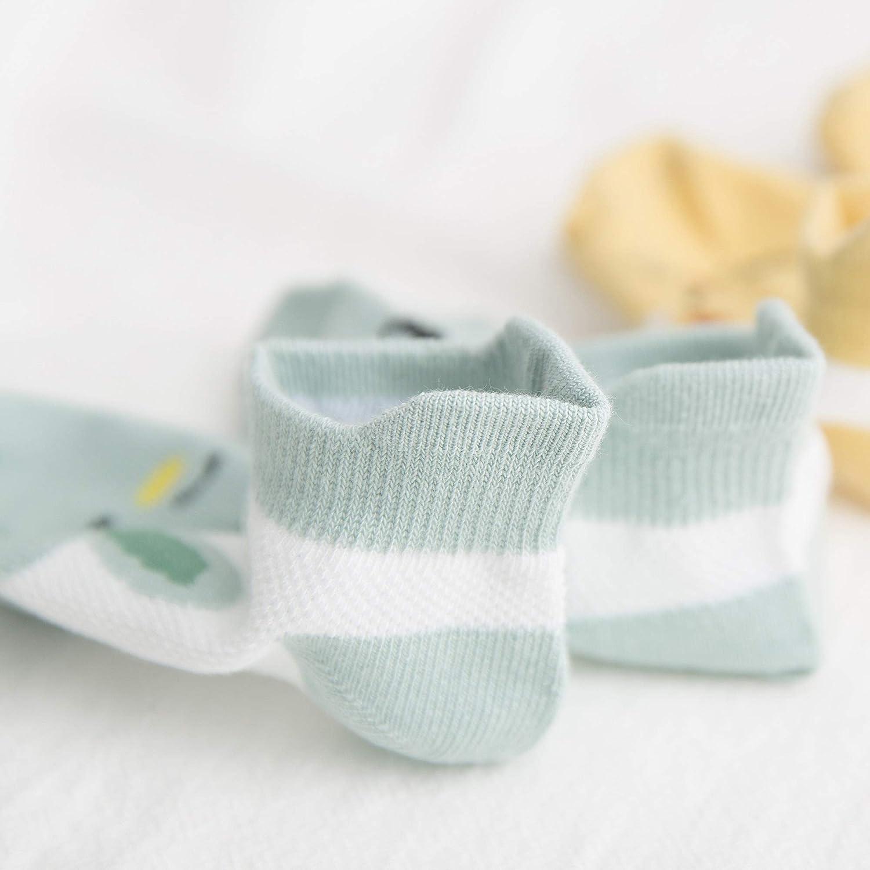 DEBAIJIA 5 Paar Baby Low Cut Ankle Socken Thin Grip Kurze Socken Boot Socken Niedliche Cartoon-Tiermuster Casual Weich S/ü/ß Bequem/F/ür Kleinkinder Jungen M/ädchen 0-14 Jahre alt