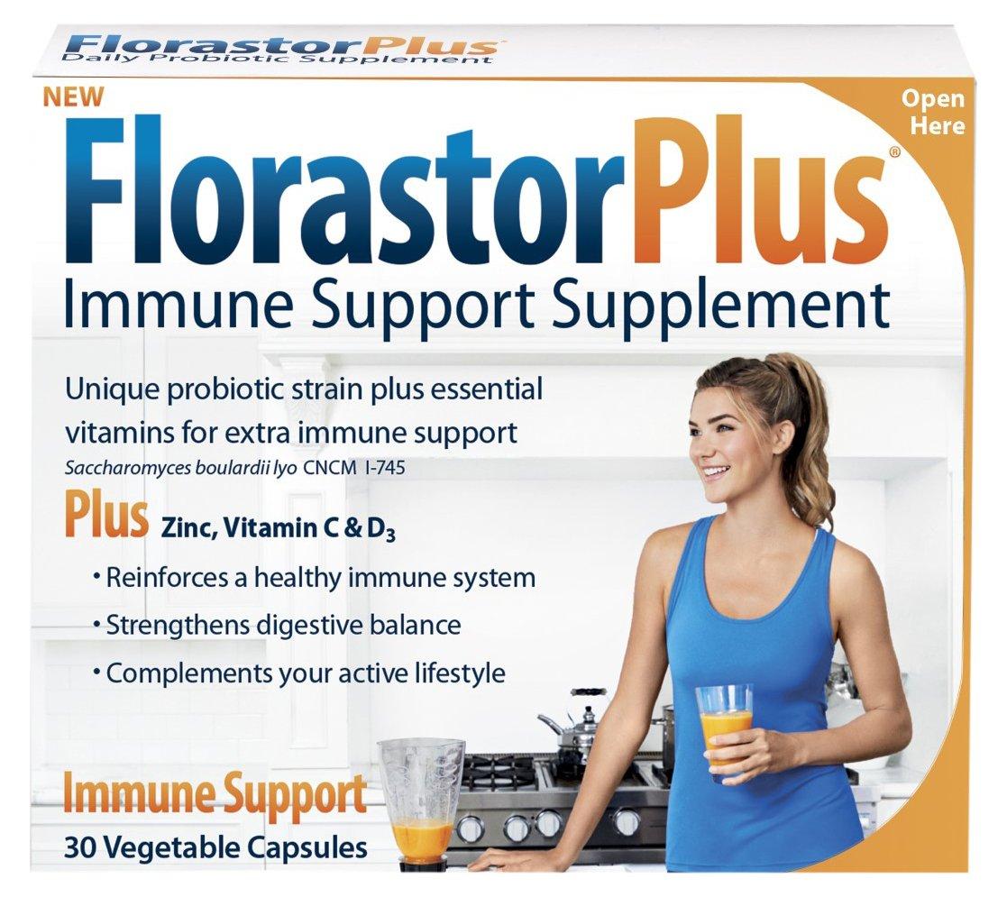 Biocodex Florastor Florastorplus Capsules, 30 Count