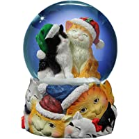 The San Francisco Music Box Company Christmas Cats Musical Snow Globe
