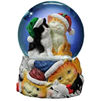 Image of Christmas Cats Musical Snowglobe