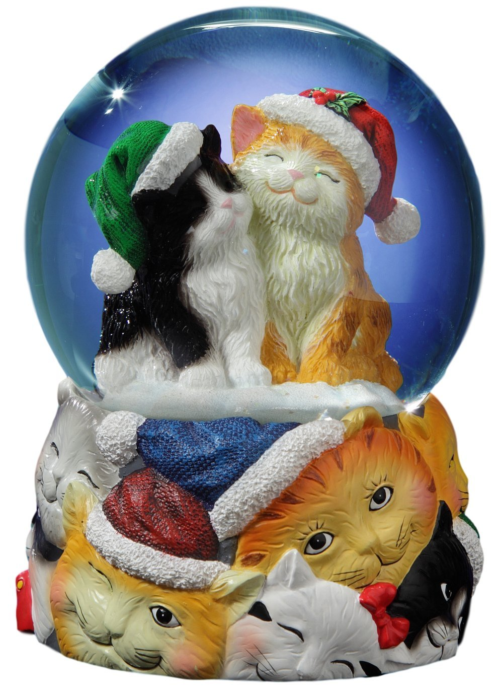 Christmas Cats Musical Snow Globe by The San Francisco Music Box Company