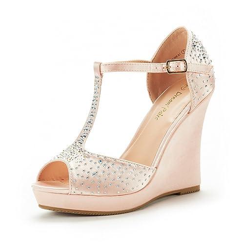 30eb167a05d DREAM PAIRS Women's Platform Wedge Sandals Peep Toe Wedge Pumps