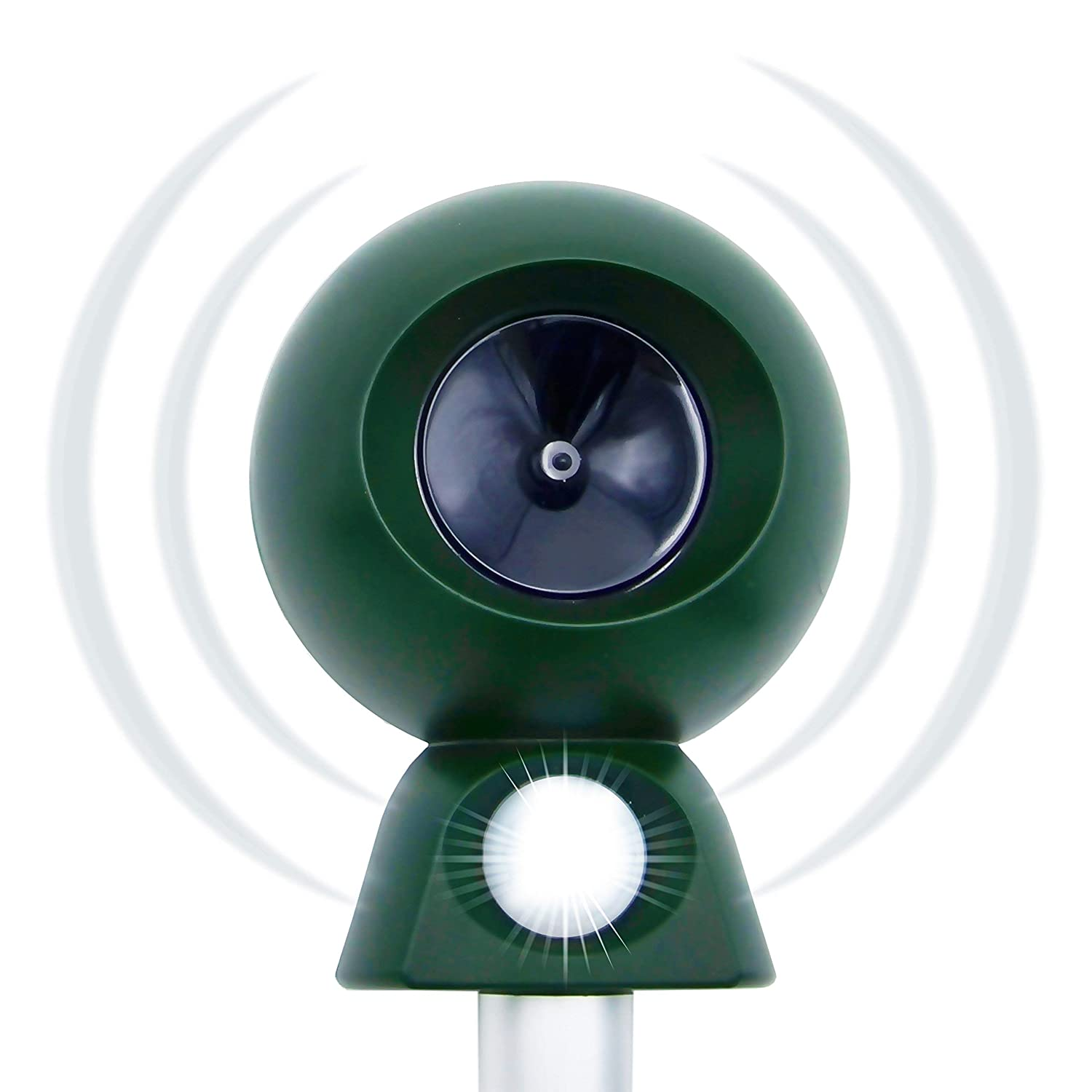 **NEW** Motion Activated Ultrasonic Cat repeller. Highly effective deterrent against Foxes, Rabbits, Dogs, Bats, Mice, Rats, Raccoons, Squirrels, Deer, Marters, etc. Ideal for Outdoors, Gardens, Garages or Cellars. Pest Tech