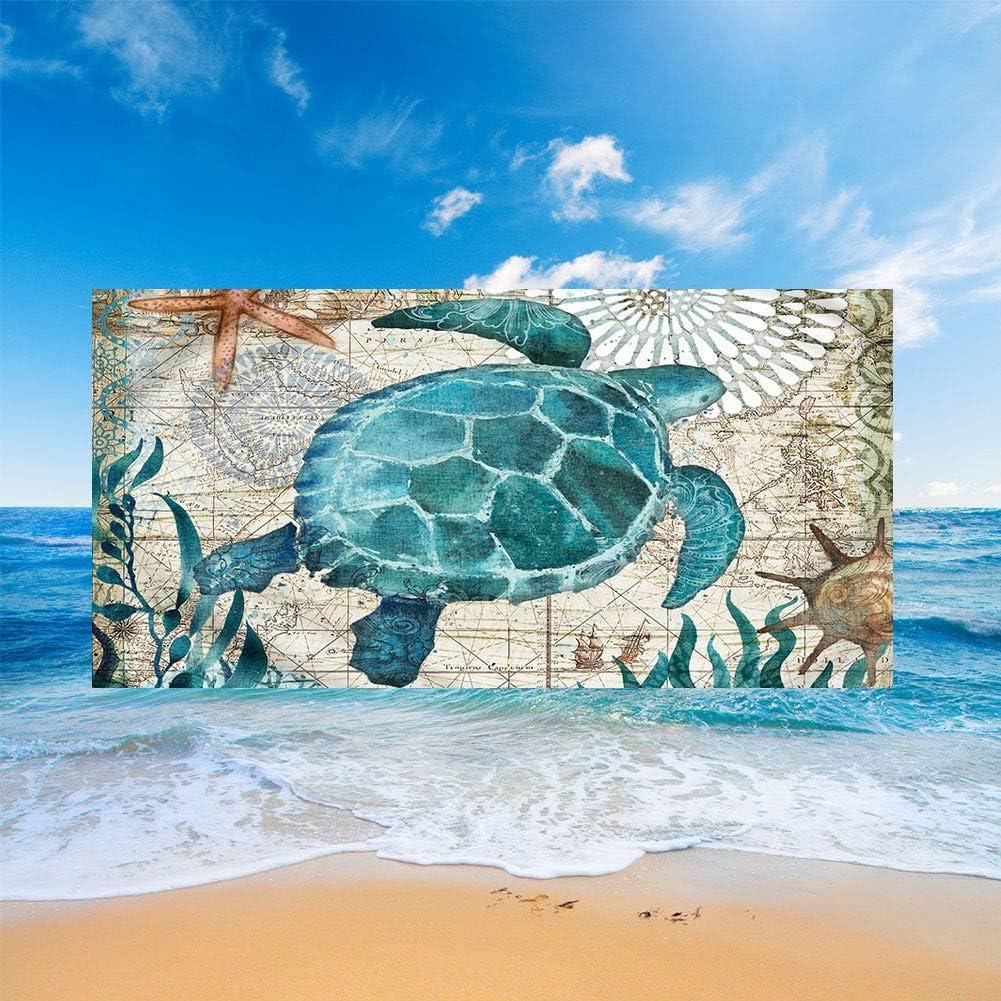 Fansu Teli Mare in Microfibra Grandi,Oceano Animale Stampa Telo Mare Microfibra Leggero Asciugamano da Spiaggia Estate Coperta da Spiaggia per Viaggio Mare Abbronzatura Stella Marina,70x150cm