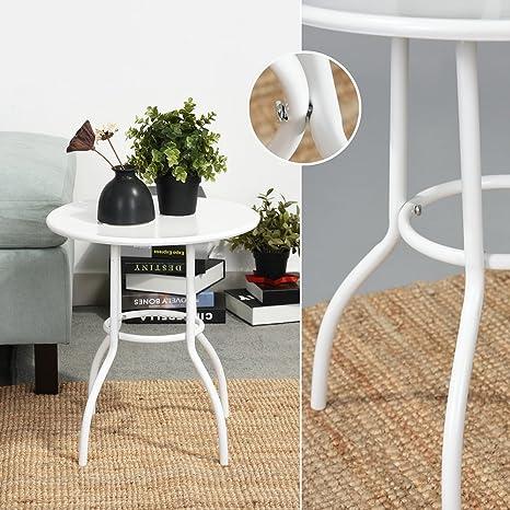 Ihouse piastra metallica rotonda tavolino divano laterale tavolino ...