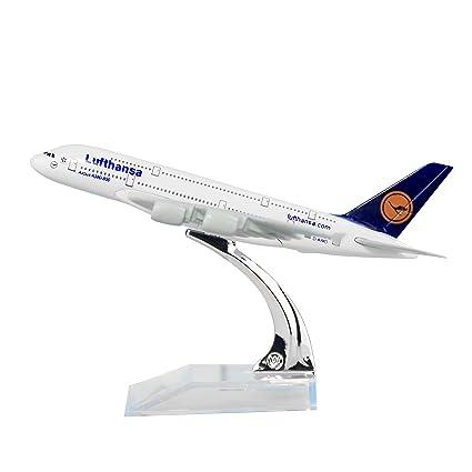 Amazon.com: Alemania Deutsche Lufthansa AG A380 metal sólido ...