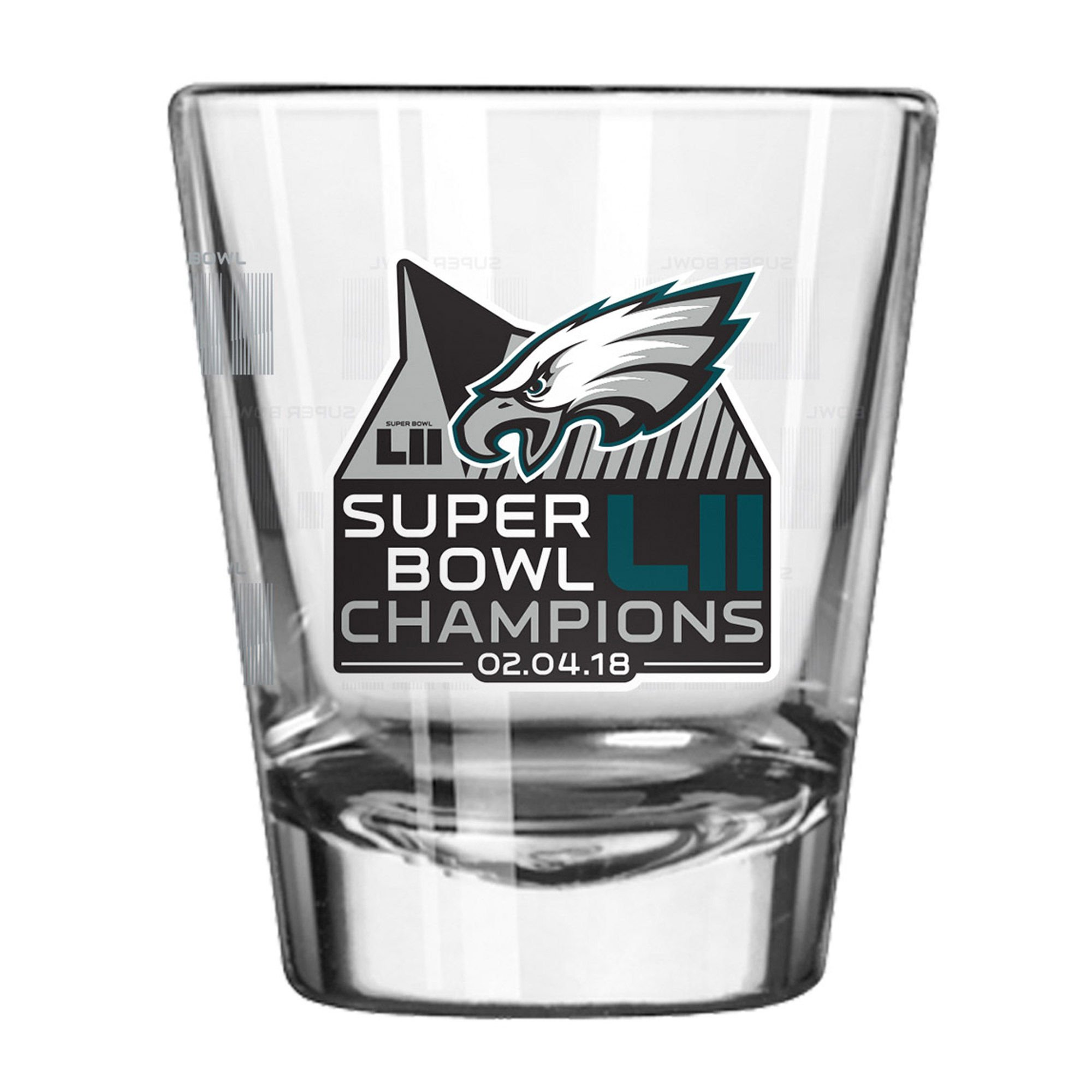 Philadelphia Eagles Super Bowl LII Champions Satin Etch 2oz. Shot Glass