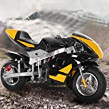 HUZONG Mini Gas Power Pocket Bike, 50cc Gas Dirt Motorcycle, 49cc 4-Stroke Engine Super Size Mini Motor Perfect for Kids and