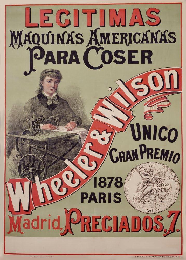 Vintage Ropa y Accesorios Wheeler y Wilson máquinas de Coser de ...