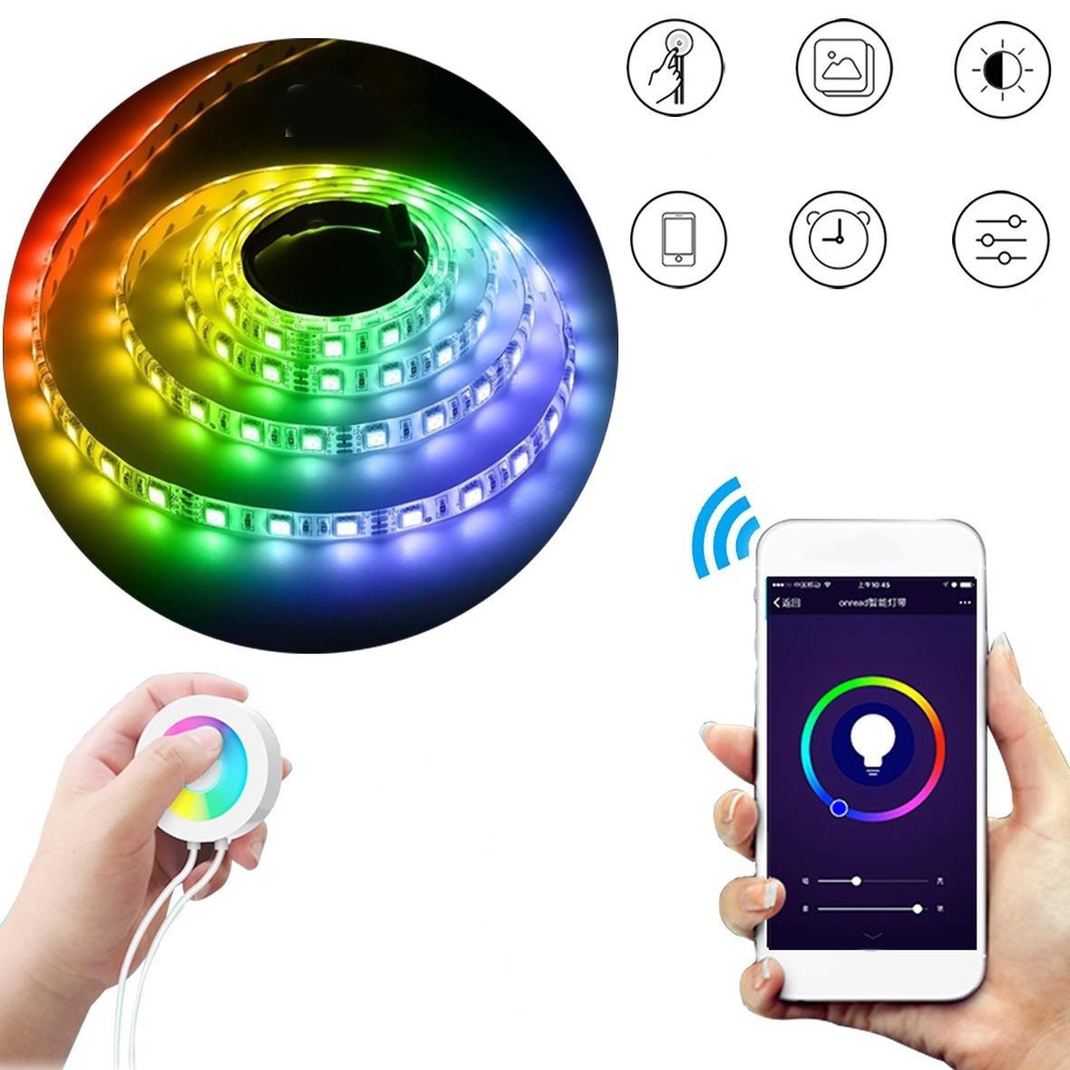 Bazaar 2M wasserdicht US Stecker Smart Wifi RGB LED Streifen Licht Touch APP Control für Alexa Google Home DC12V