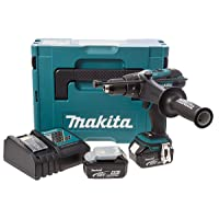 Makita Akku-Schlagbohrschrauber, (18 V im Makpac mit 2 Akkus 4,0 Ah + Ladegerät), DHP458RMJ