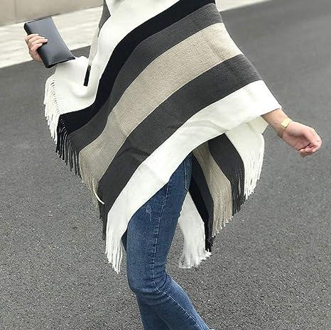 maglia a righe giacca bianca