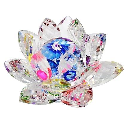 Feng shui crystal lotus flower 32 skux9013 amazon home kitchen feng shui crystal lotus flower 32quot mightylinksfo