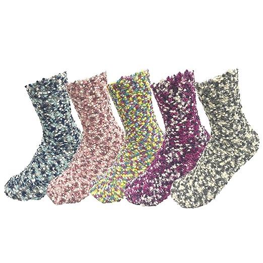 Z-Chen Pack de 5 pares de calcetines para dormir Mujer Térmicos Invierno: Amazon.es: Ropa y accesorios