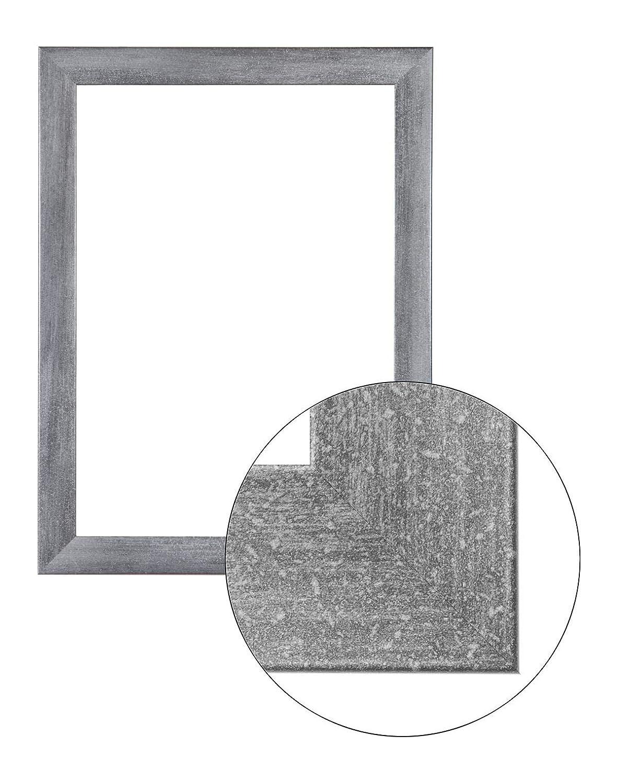 Framo36 Luxus 80 cm x 120 cm MDF Holz Bilderrahmen in Farbe Grau gewischt