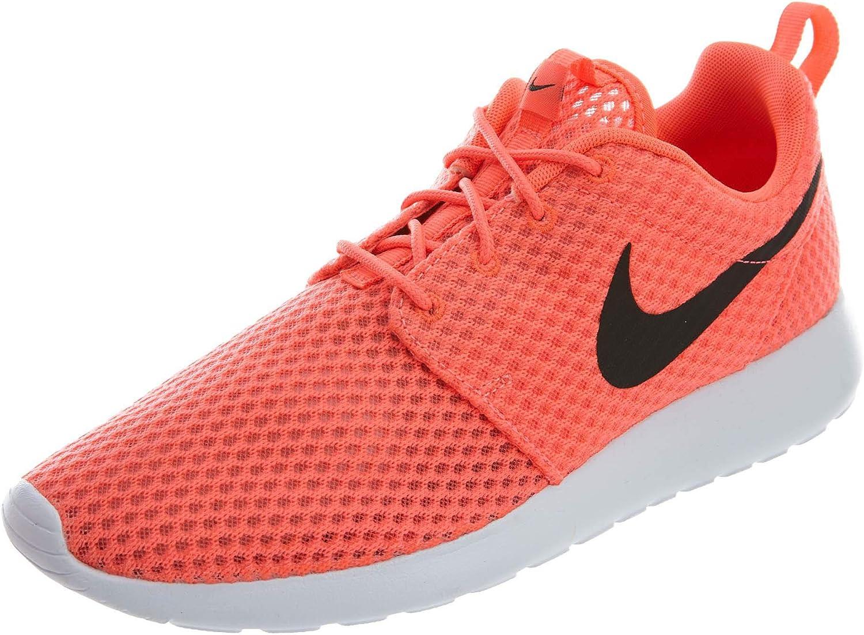 Nike Rosherun BR halfhoge herenschoenen, zwart-wit, 41 EU oranje zwart