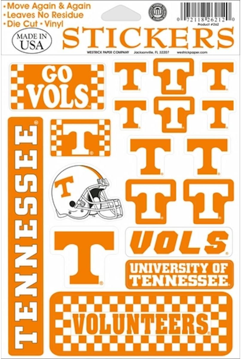 Tennessee Vols Little T Decal Window Static-Cling Sticker Car or Truck