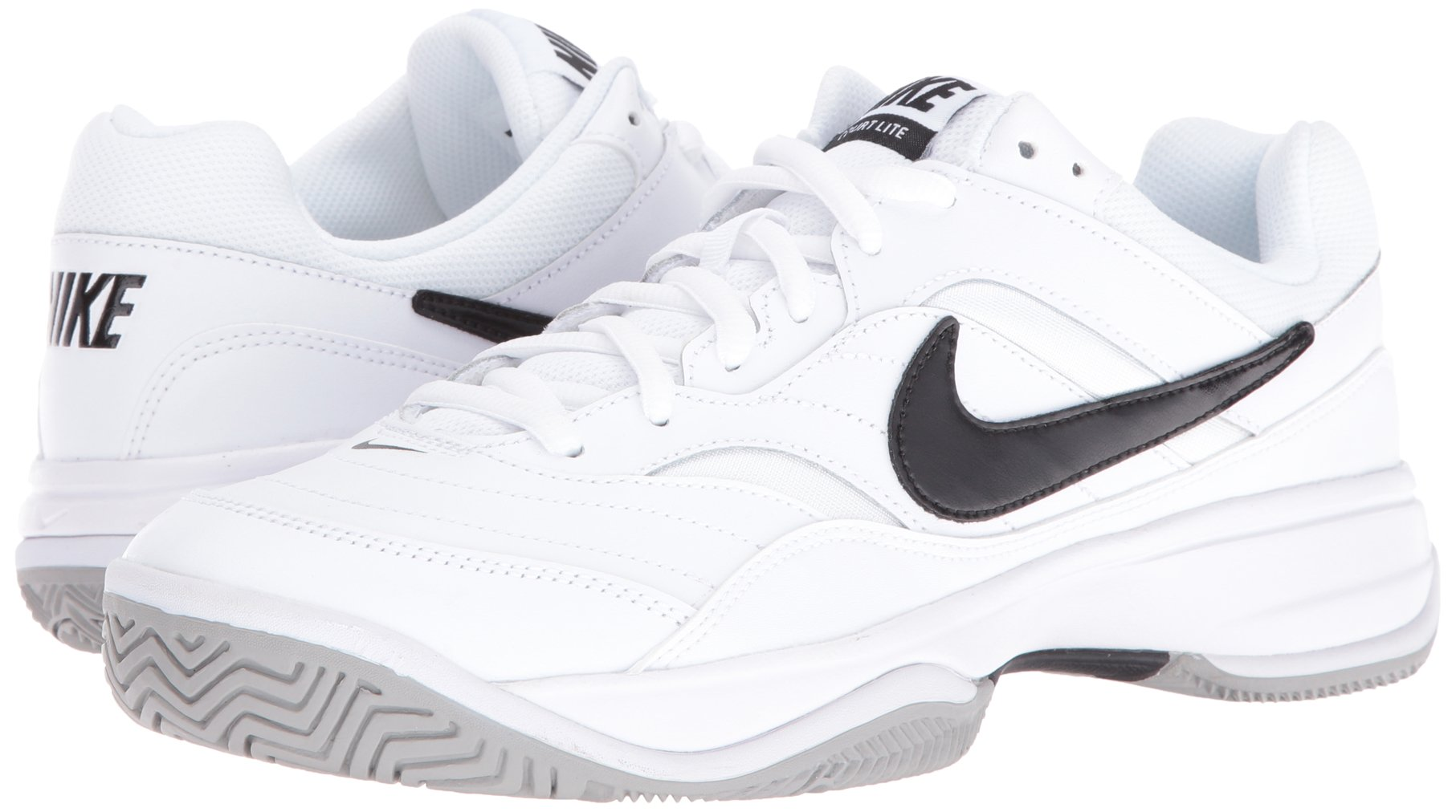 NIKE Men's Court Lite Tennis Shoe, White/Medium Grey/Black, 6.5 D(M) US by Nike (Image #6)