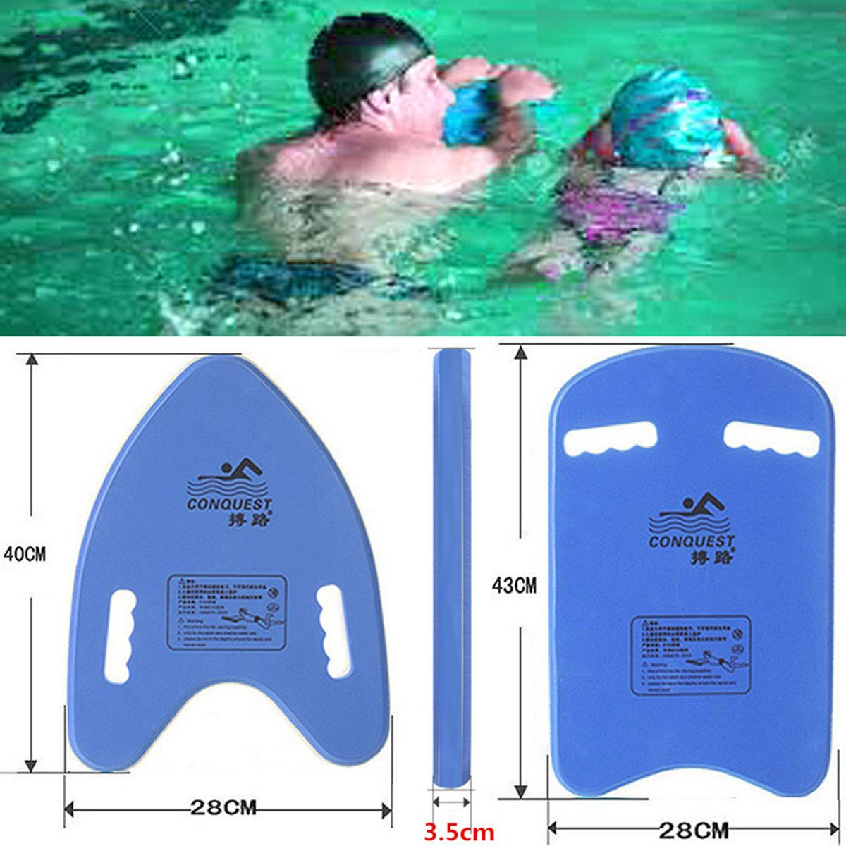 VERISA Kids & Adults Swimming Kickboard Swim Pool Float Floating Buoy Hand Board Tool Foam with Drawstring Backpack Sport Bag (A shape)