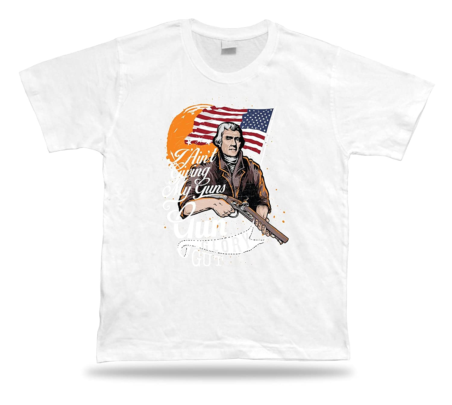 Tshirt Tee Shirt Birthday Gift Idea Second Amendment Gun Glory Freedom America