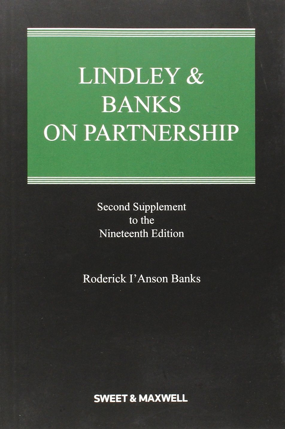 Lindley & Banks on Partnership 2nd Supplement pdf