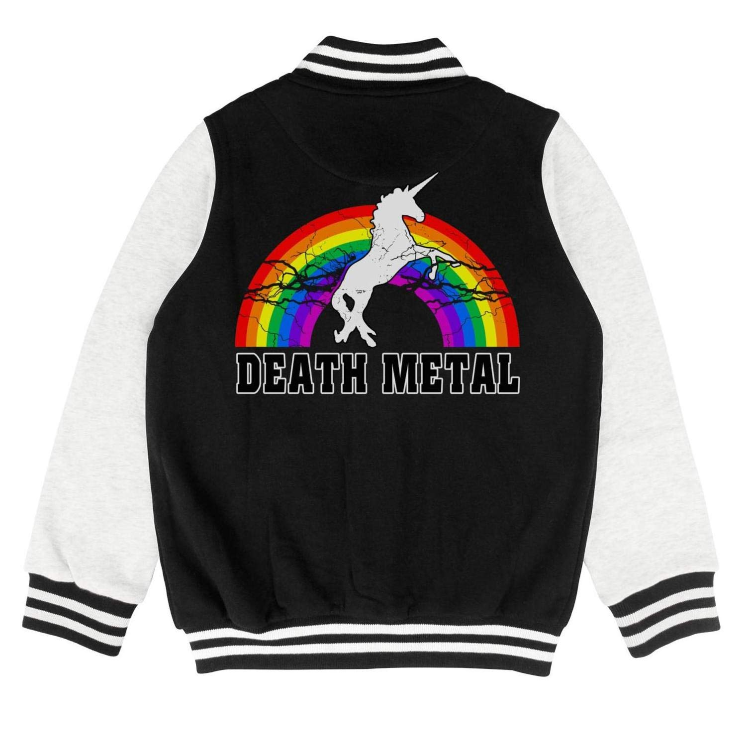 Kids Cartoon Unicorn Little Girls Baseball Jacket for Girls Boys Funny Cotton Coats