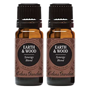 Edens Garden Earth & Wood Essential Oil Synergy Blend, 100% Pure Therapeutic Grade (Aromatherapy Oils), 10 ml Value Pack