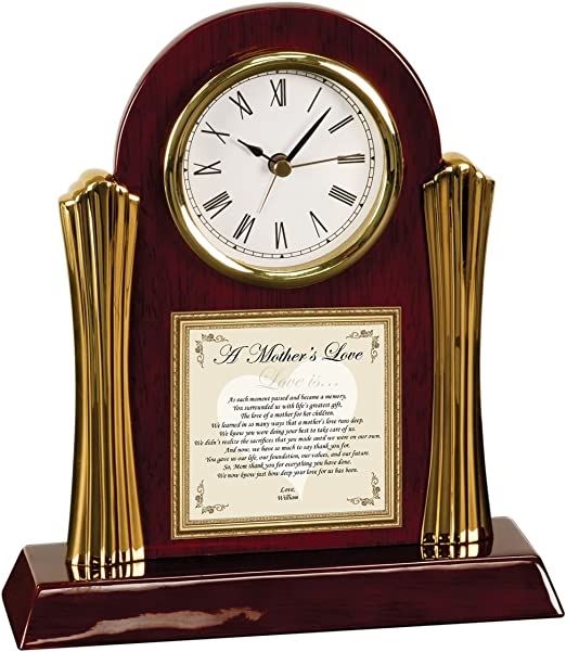 Amazon Com Gift For Mom Poetry Cherry Desk Clock Personalized Birthday Gifts Mothers Day Poem Wedding Thank You Daughter Bride Groom Son Home Kitchen