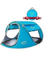 ZOMAKE Tenda da Spiaggia Portatile per Bambini Esterni, 3-4 Persone Pop up Tenda con Protezione Solare